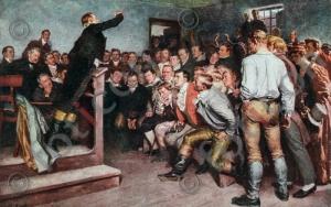 Professor Steffens redet am 3. Februar 1813 zu Gunsten der Volkserhebung in Breslau I Professor Steffens speaking in favour of the popular uprising in Breslau on 3 February 1813 (foticon-kampf-002.jpg)
