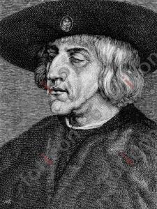 Portrait von Kaiser Maximilian I.   Portrait of Emperor Maximilian I. (portrait-0011-sw.jpg)