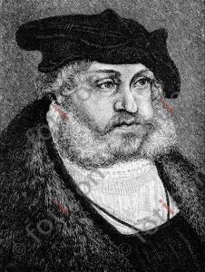 Portrait von Friedrich der Weise   Portrait of Frederick the Wise (portrait-0013-sw.jpg)