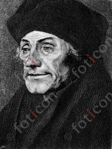 Portrait von Desiderius Erasmus von Rotterdam   Portrait of Desiderius Erasmus von Rotterdam (portrait-0015-sw.jpg)