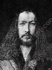 Portrait von Albrecht Dürer   Portrait of Albrecht Dürer (portrait-0017-sw.jpg)