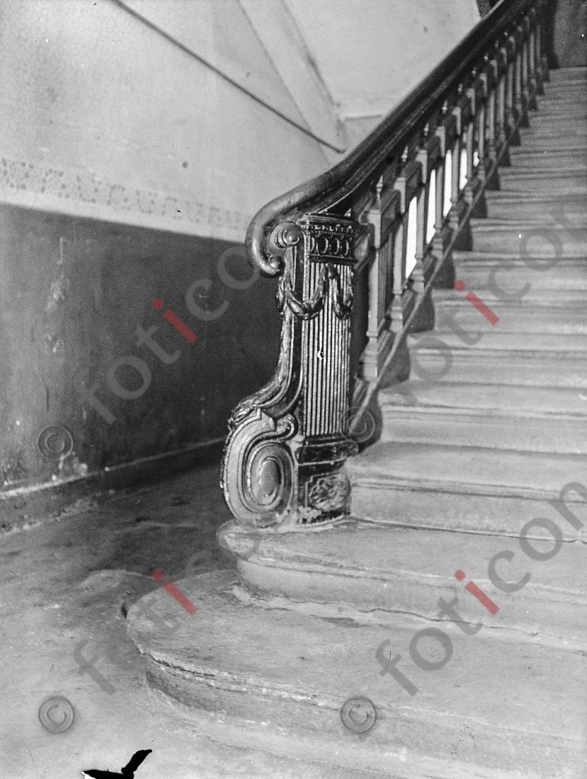 Treppe Ratingerstraße 18 | Stairway Ratingerstreet 18 - Foto foticon-kleesattel-sw-006.jpg | foticon.de - Bilddatenbank für Motive aus Geschichte und Kultur
