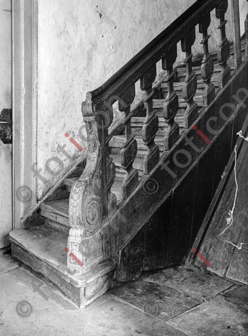 Treppe Ritterstraße 21 | Stairway Ritterstreet 21 - Foto foticon-kleesattel-sw-007.jpg | foticon.de - Bilddatenbank für Motive aus Geschichte und Kultur