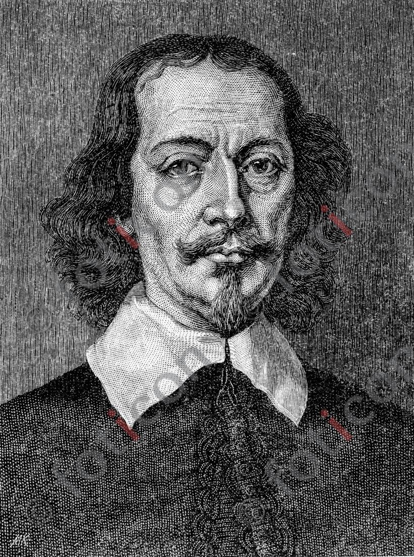 Portrait von Otto von Guericke | Portrait of Otto von Guericke - Foto foticon-portrait-0058-sw.jpg | foticon.de - Bilddatenbank für Motive aus Geschichte und Kultur