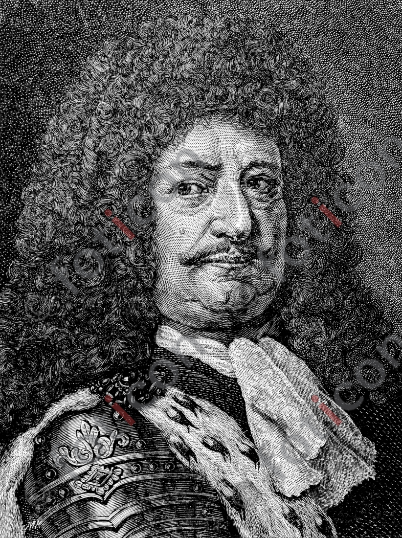 Portrait von Friedrich Wilhelm von Brandenburg | Portrait of Friedrich Wilhelm of Brandenburg  - Foto foticon-portrait-0062-sw.jpg | foticon.de - Bilddatenbank für Motive aus Geschichte und Kultur