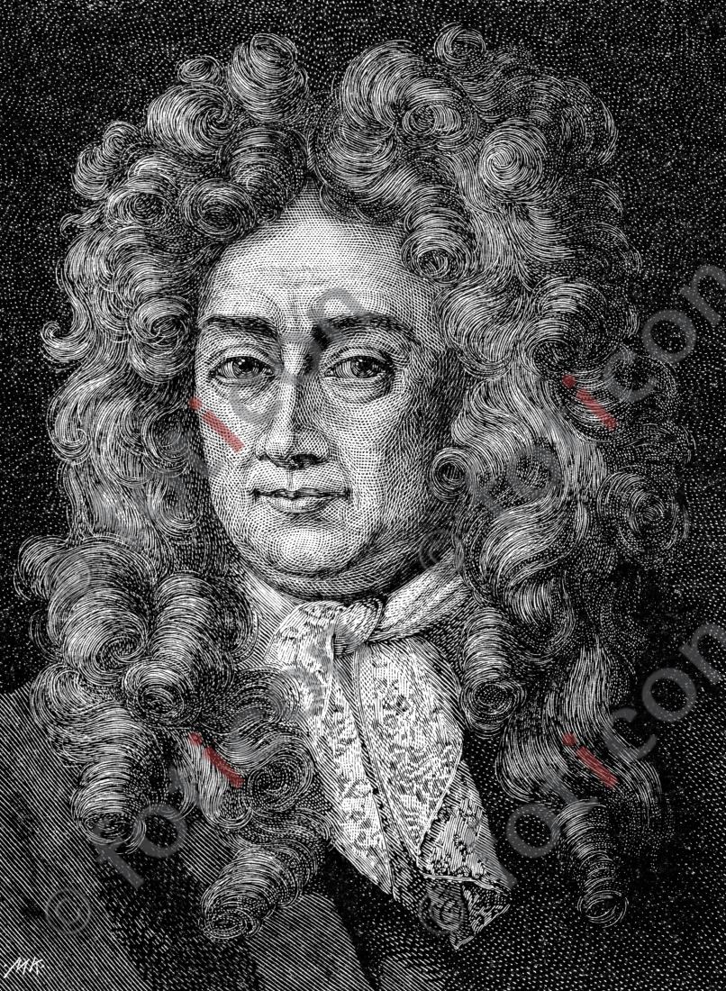 Portrait von Samuel von Pufendorf | Portrait of Samuel von Pufendorf  - Foto foticon-portrait-0063-sw.jpg | foticon.de - Bilddatenbank für Motive aus Geschichte und Kultur