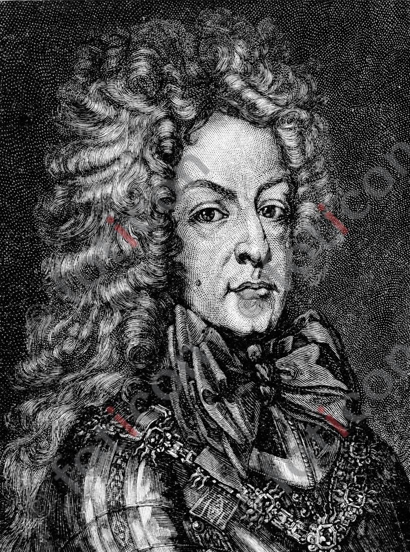Porträt von Ludwig Wilhelm von Baden-Baden   Porträt of Ludwig Wilhelm von Baden-Baden - Foto foticon-portrait-0068-sw.jpg   foticon.de - Bilddatenbank für Motive aus Geschichte und Kultur