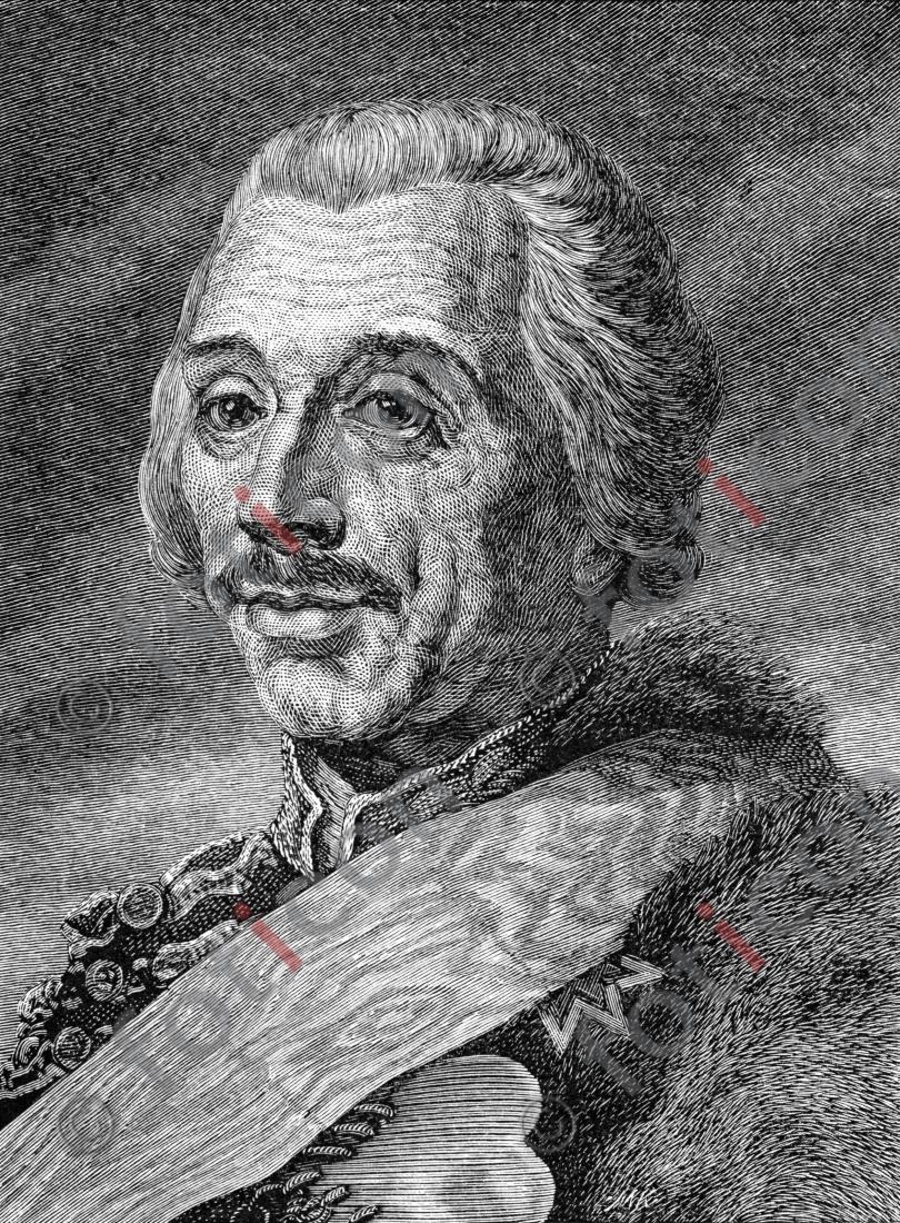 Portrait von Hans Joachim von Zieten | Portrait of Hans Joachim von Zieten - Foto foticon-portrait-0078-sw.jpg | foticon.de - Bilddatenbank für Motive aus Geschichte und Kultur